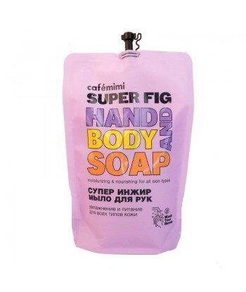 Mydło w płynie do rąk SUPER FIG, (DOYPACK) 450 ml - CAFE MIMI