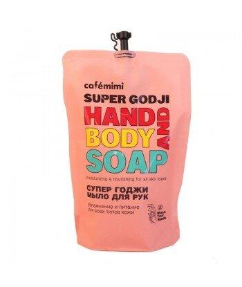 Mydło w płynie do rąk SUPER GOJI, (DOYPACK) 450 ml - CAFE MIMI