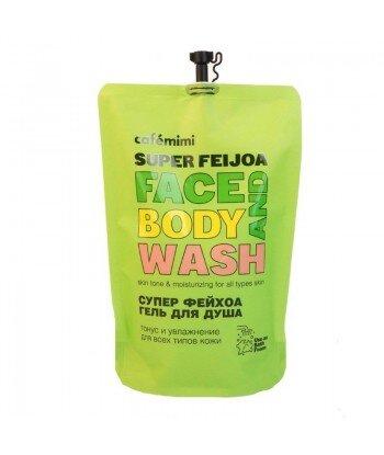 Żel do mycia twarzy i ciała SUPER FEIJOA, (DOYPACK) 450 ml - CAFE MIMI