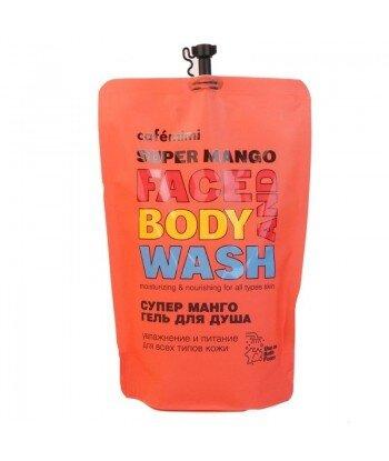 Żel do mycia twarzy i ciała SUPER MANGO (DOYPACK) 450 ml - CAFE MIMI