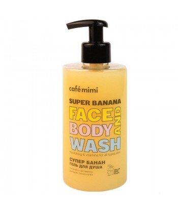Żel do mycia twarzy i ciała SUPER BANANA, 450 ml - CAFE MIMI