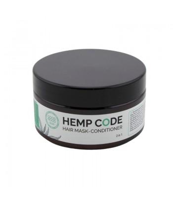 Odbudowujący balsam - maska do włosów z olejem konopnym 2w1, 200 ml, Good Mood