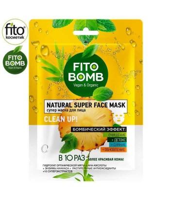 FITO BOMB Maska do twarzy, Oczyszczanie + Detoks + Rozświetlanie + Odnowienie 25ml - Fitokosmetik