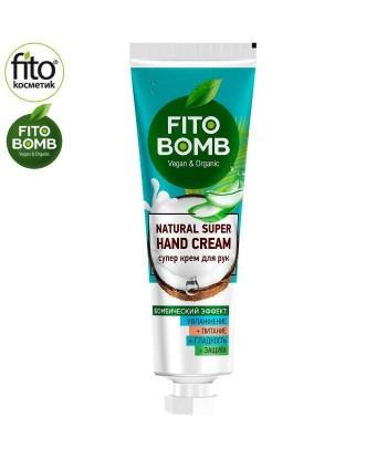FITO BOMB Super krem do rąk nawilżający + odżywczy + wygładzający + ochrona, 24ml - Fitokosmetik