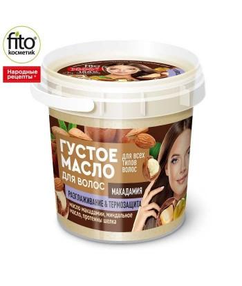 Gęsty olejek aktywnie odbudowujący włosy na bazie oleju makadamia, 155 ml - Fitokosmetik