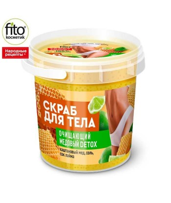 Oczyszczający miodowy peeling do ciała, Detox, 155 ml - Fitokosmetik