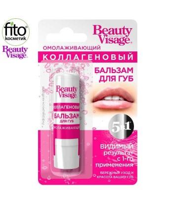 Kolagenowy Odmładzający balsam do ust Beauty Visage, 3,6g - Fitokosmetik