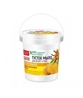 Miodowo-rokitnikowe gęste mydło dla włosów i ciała - Złote odżywianie 155 ml