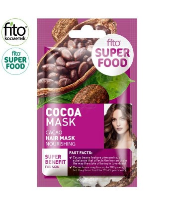 FITO SUPERFOOD maska do włosów, odżywcza, Kakao, 20 ml
