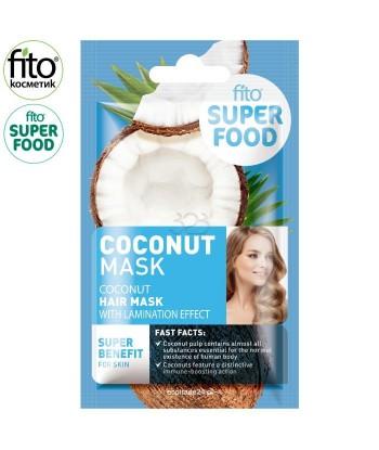 FITO SUPERFOOD maska do włosów, efekt laminowania, Kokosowa, 20 ml