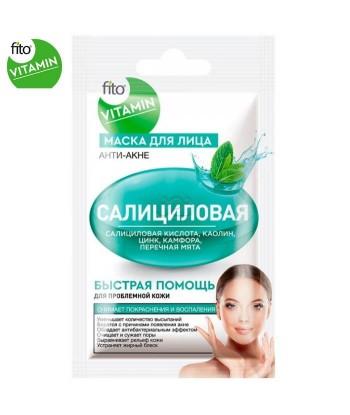 Fito Vitamin maska do twarzy Kwas salicylowy, przeciwtrądzikowa 10 ml