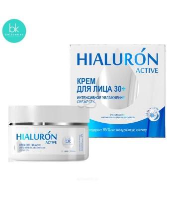 Krem do twarzy, intensywne nawilżanie. odświeżający 30+, 48 g HIALURON ACTIVE, Belkosmex
