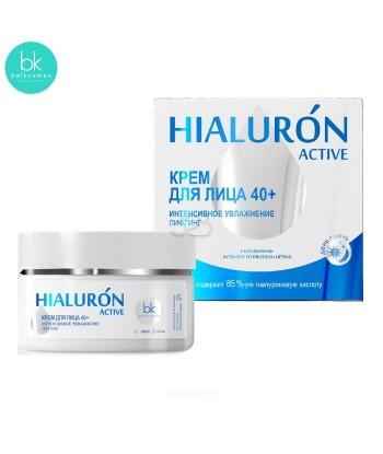 Krem do twarzy intensywne nawilżanie z efektem liftingu 40+, 48 g HIALURON ACTIVE, Belkosmex