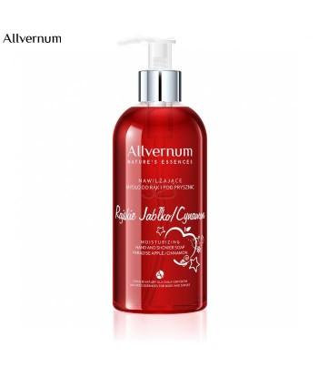 Nawilżające mydło do rąk i pod prysznic, rajskie jabłko i cynamon 300ml Allvernum