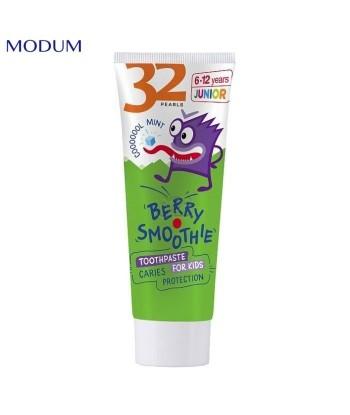 32 PEARLS JUNIOR pasta do zębów dla dzieci Ochrona przed próchnicą Koktail Jagodowy, 75 g