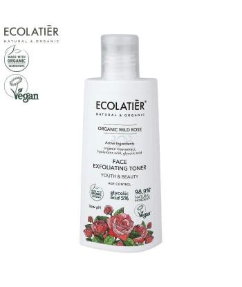 ORGANIC WILD ROSE Złuszczający tonik do twarzy AGE Control, 150ml ECOLATIER